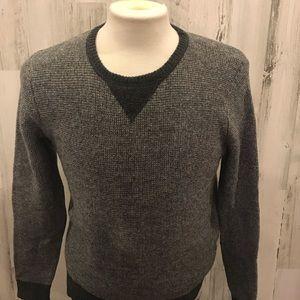 J. Crew 100% lambs wool  color block sweater sz S